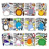 Make-a-face Sticker Sheets for Kids Summer Birthday Party Favors Bags, 36 Pack Make Your Own Animal...
