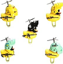 Ububiko Eend speelgoed, decoratie voor het dashboard, eend van PVC, frisse eend met propeller/helm/zonnebril/gouden ketting