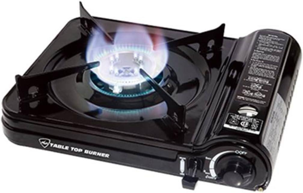 Limited time cheap sale Max Burton 8253 Table Top Gas Black Burner 7650 BTU overseas Piezoelec