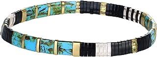 KELITCH Nuevas Pulseras Coloridas de la Amistad Pulseras elásticas de TILA Pulseras de Hilo de Cuentas de Caramelo Miyuki ...