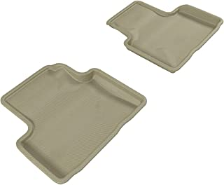 3D MAXpider L1IN00621502 Second Row Custom Fit All-Weather Floor Mat for Select Infiniti G35/G37 Models - Kagu Rubber (Tan)