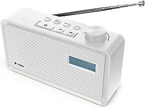 DAB/DAB Digital+ & FM Radio, Portable Mains and Battery Powered DAB Radios Rechargeable Digital Radio with USB Charging - ...