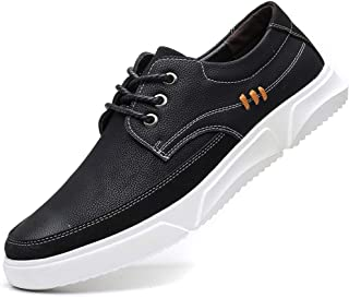 COSIDRAM Men Leather Dress Shoes Oxfords Casual Breathable Fashion Business Shoes Formal Comfort Lace up Flats Sneakers