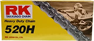 RK Racing Chain M520HD-114 (520 Series) 114-Links Standard Non O-Ring Chain with Connecting Link