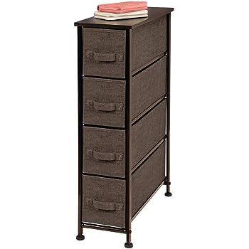 Organizer pratico con 3 cassetti mDesign Comodino in stoffa Cassettiera ideale per la camera da letto l/'appartamento o per stanze piccole antracite