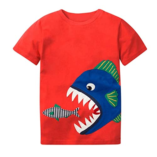 aff844dde Webla Toddler Kids Baby Boys T-Shirt Cartoon Shark Print Short Sleeve  Summer Funny Tops