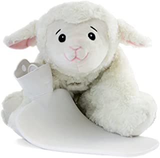 HUGO FROSCH,1.8L Kids Hot Water Bottle with Sheep Cover, Cuddly Cushion 3 in 1, Stuffed Animal, Warmy Animals, Highest Quality - Made in Germany