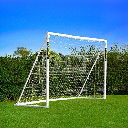 FORZA Fußballtore mit einem Klicksystem – das Tor kann das ganze Jahr über bei jedem Wetter draußen Lassen Stehen (2,4m x 1,2m)