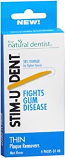 Stim-U-Dent Plaque Removers Thin Mint 160 Each (Pack of 10)