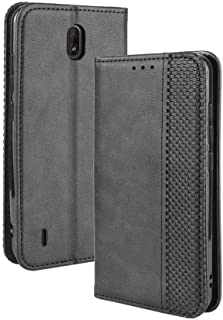 Case for Nokia C1,Leather Stand Wallet Flip Case Cover for Nokia C1,Retro magnetic Phone shell,Wallet phone case with Card...