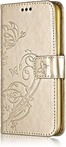 Book Style Case for Apple iPhone  6S  Bear Village  Sony Xperia XZ2 Compact Leather Flip Case with Card Slot  TPU Shockproof Interior  Flip Slim Wallet Case   2 Gold