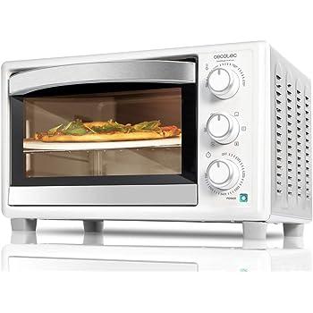 Cecotec Horno de convección con piedra para pizza.Multifunción de sobremesa con 26 litros. Ideal para pizzas. Cocina por convección.Luz interior y puerta con doble cristal. 1500 W. Bake&Toast 570: Amazon.es: Hogar