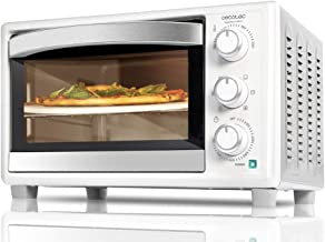 Cecotec Bake & Toast 4Pizza Konvektionsofen - Kapazität von 26 Litern, 1500 W, 6 Modi, Spezialstein zum Kochen von Pizza, Temperatur bis zu 230ºC und Zeit bis zu 60 Minuten, Schwarz Weiss, 610