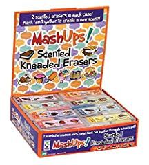 KNEADED ERASER: These pressed erasers are made of durable rubber that helps in removing traces of pencils SCENTED ERASER: The mash-up kneaded eraser can be reassembled and mashed together to create a new scent FUN STATIONERY: Pull and twist 2 scented...