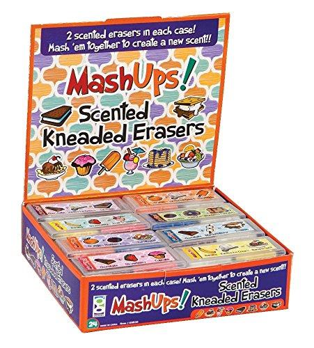 Geddes Mash Ups Scented Kneaded Erasers, 24 Pack (69836)