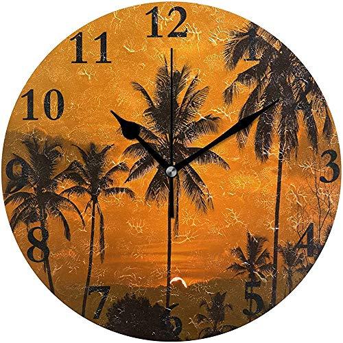 Meili Shop Sonnenaufgang In Tamborim South Goa Runde Wanduhr Home Office School Dekorative Uhr Kunst OneSize
