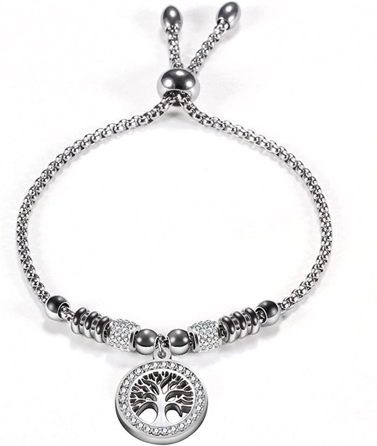 Vintage Max 90% OFF Beauty products Gold Silver Stainless Steel Of Bracelet Life Charm Tree