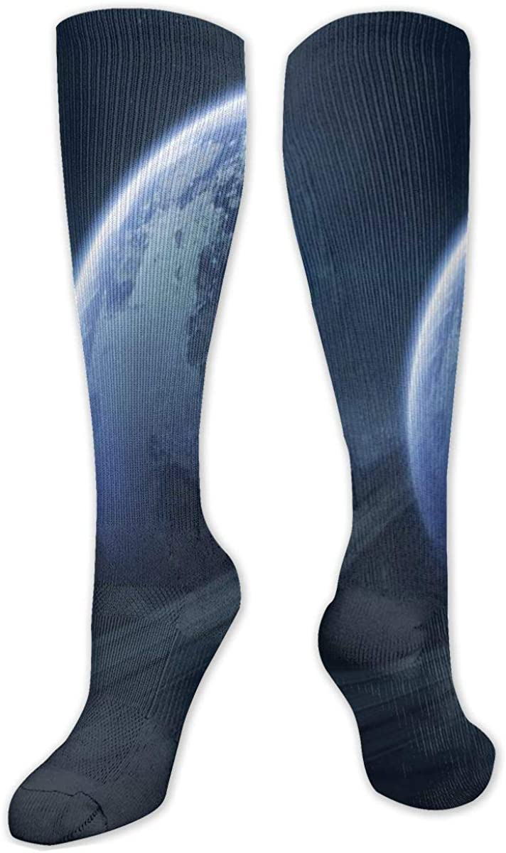 Universe Planet Stars Saturn Knee High Socks Leg Warmer Dresses Long Boot Stockings For Womens Cosplay Daily Wear