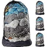 Plusmart Netz-Wäschesäcke mit Kordelzug, 61 x 91,4 cm, extra große Wäschesäcke mit...