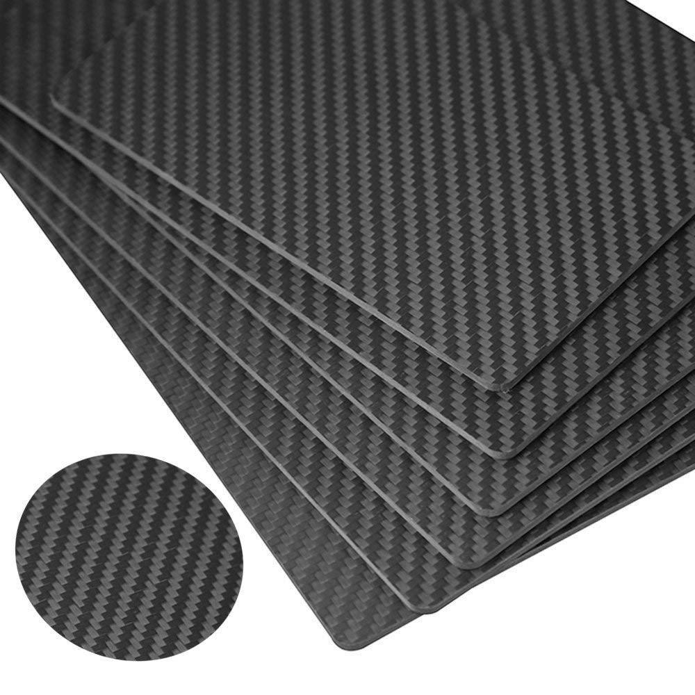 6\u00d772 332-18 4x4 Twill Carbon Fiber Kevlar Hybrid Fiberglass Panel Sheet Board Plate GLOSSY BOTH SIDES
