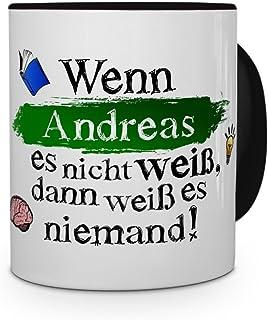 Chrom-Schriftzug Tasse mit Namen André