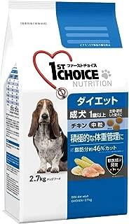 ファーストチョイス ドッグフード 成犬 1歳以上 ダイエット 去勢・避妊した愛犬 中粒 チキン 2.7kg