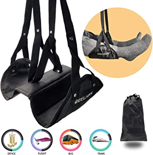 Airplane Footrest, Separated Design Foot Sling with Premium Memory Foam, Protable Travel Accessories Adjustable Foot Hammock for Office Train, Provide Relaxation and Comfort (New Upgrade)