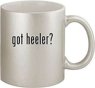 got heeler? - Ceramic 11oz Silver Coffee Mug, Silver