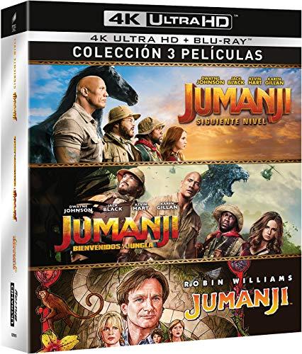 Jumanji: 1995 + Bienvenidos a la Jungla + El Siguiente Nivel (4K...