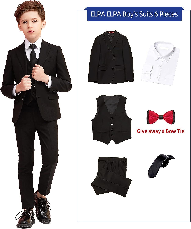 ELPA ELPA Boys Suits Slim Fit Classic Boys Formal Suit Dresswear for Weeding, Party or Prom