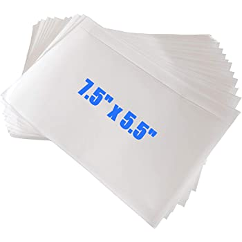 "Immuson 7.5"" x 5.5"" Clear Adhesive Top Loading Packing List, Label Envelopes Pouches (100 Bags)"