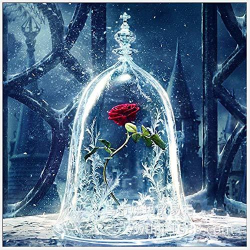 5D Diamant Schilderij Kit Mooie Rose Volledige Boor Diamant Borduurwerk Schilderij DIY Borduurwerk Cross Stitch Schilderij voor Thuis Muurdecoratie 40-40 cm