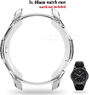 Easy to Install 46mm Ultra-Thin TPU Transparent Watch Case Protective Cover Fit for Samsung Gear S3 Classic SM-R775V Verizon