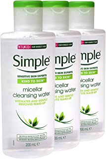 Simple Kind to Skin Cleansing Water, Micellar, 6.7 Ounce (Pack of 3)