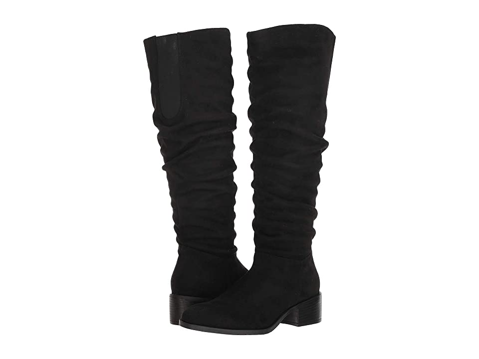 Kenneth Cole Reaction Salt Slouch Boot (Black Microsuede) Women