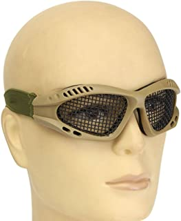 CAMTOA Metal Mesh CS Game Eye Protective Goggles Airsoft Safety Tactical Equipment Tactical Eyewear Glasses Wire Mesh Adjustable Goggle