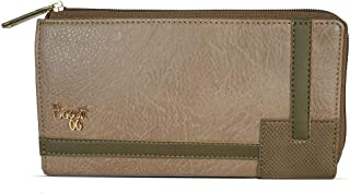 Baggit Autumn-Winter 2020 Faux Leather Women's Ziparound Wallet (Beige) (Gird)