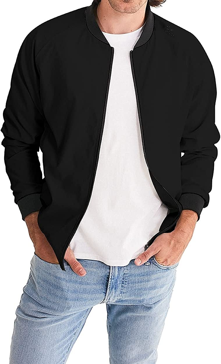 Men's Bomber Jacket Casual Lightweight Fashion Coat Spring Fall Softshell Tops