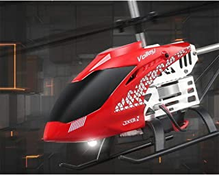 XuBa Helicopter with Remote Control Takes Off by One Key Barometric Height Alloy Fuselage Crashworthiness Red (English Version)