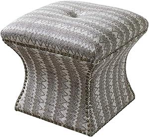 LYQZ Retro Gray Soft Bag Sofa Stool Foot Change Shoe Stool Ottoman Sofa Bed 45x47cm