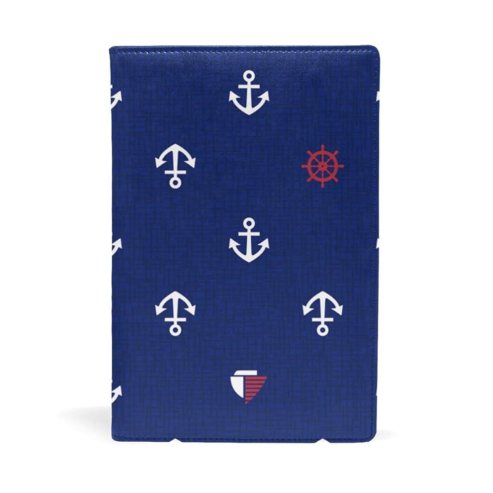 説明的配送のみ海洋航海 船の錨 ブックカバー 文庫 a5 皮革 おしゃれ 文庫本カバー 資料 収納入れ オフィス用品 読書 雑貨 プレゼント耐久性に優れ