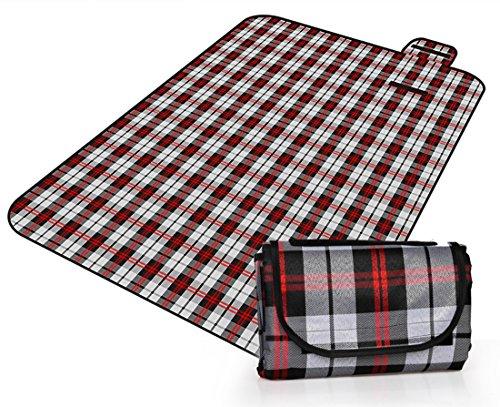 Honeystore 200 * 150 Oxford Yoga Matte Strand Ausflug Picknickdecke mit Wasserabweisender Unterseite A08