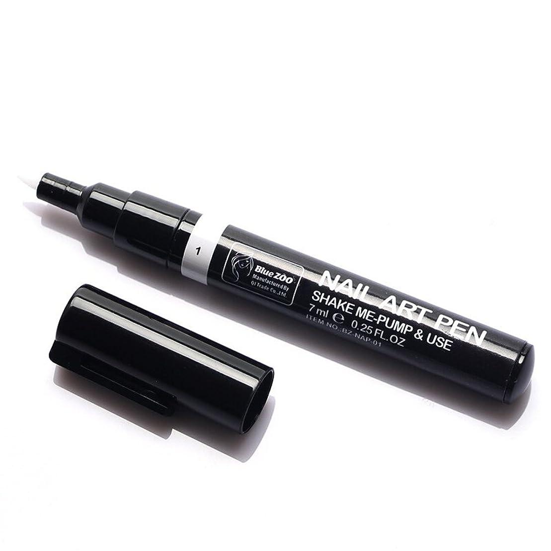 脳調整ブレンド(メイクアップエーシーシー) MakeupAcc カラーネイルアートペン 3Dネイルペン ネイルアートペン ネイルマニキュア液 ペイントペン ペイント 両用 DIY 16色 (白い) [並行輸入品]