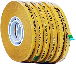 WOD RWATG20 General Purpose ATG Tape, 1/4 inch x 36 yds. (Set of 6 Rolls) Adhesive Transfer Tape Glider Refill Rolls Clear Adhesive on Gold Liner (Acid Free and Available in Multiple Sizes Rolls)