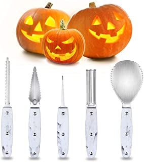 Professional Halloween Pumpkin Carving Kit, Heavy Duty Stainless Steel Carving Tools Set for Halloween Decoration, Sturdy ...
