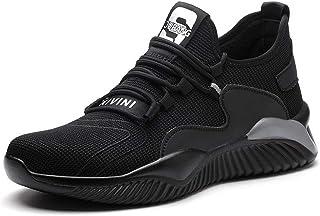 Legou Chaussures de travail unisexe avec coque en acier - Noir