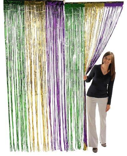Fun Express Metallic Mardi Gras Fringe Curtains (2-Pack)