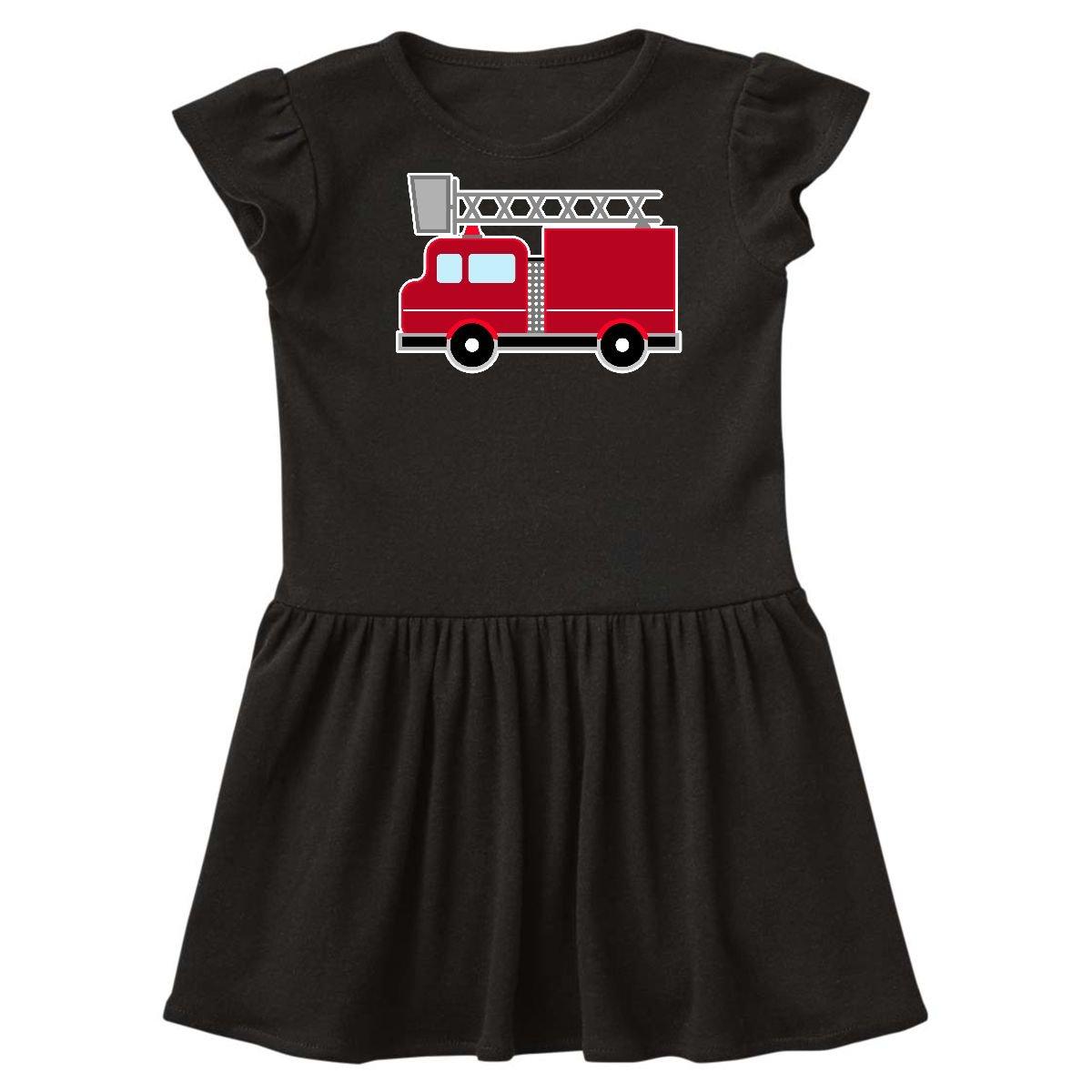 Firetruck tunic dress Firetruck dress 6,7 Girls dress 34 sleeve peasant dress  tunic dress 18 months,2t,3t,4t,5t fire fighter dress