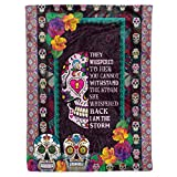 Sugar Candy Skull I Am The Storm Sherpa Fleece Throw Blanket Tapestry Queen Full Twin Size Christmas Birthday Catrina Calaveras Mexican Presents for Mexican Mexico Day of The Dead Girls Women