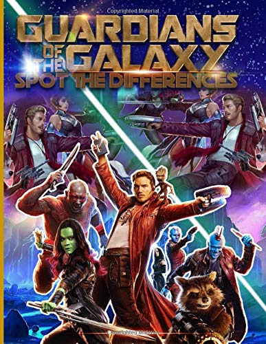Guardians Of The Galaxy Spot The Difference: Guardians Of The Galaxy Activity Picture Puzzle Books For Adults, Boys, Girls